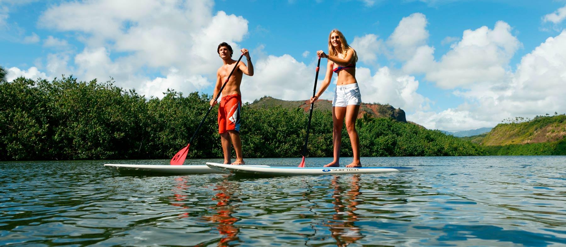 Stand Up Paddling Wailua Kauai