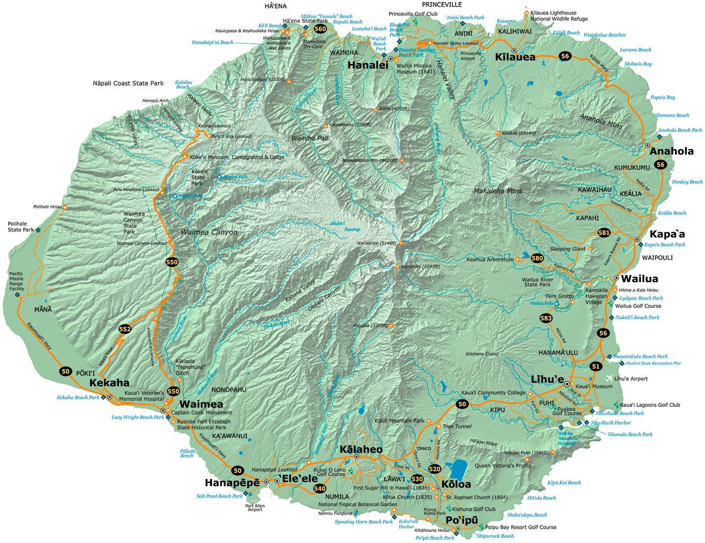 Kauai Map ®Delicious Design